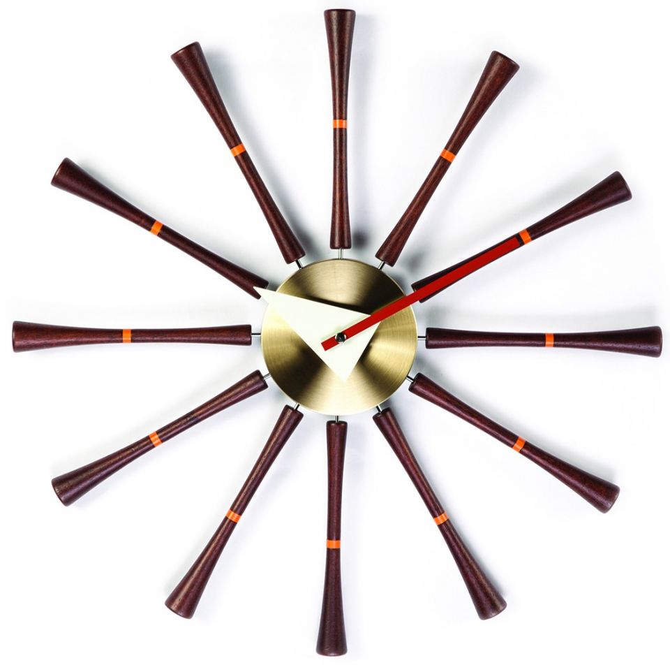 Spindle wall clock de George Nelson